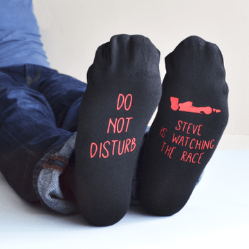 Personalised Do Not Disturb Sport Socks