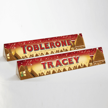Personalised Christmas Santa Toblerone Bar