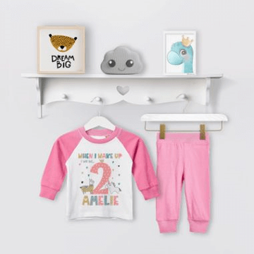 Personalised Llama Unicorn Birthday Eve Pyjamas