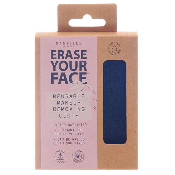 Erase Your Face - Black Reusable Makeup Removing Cloth - Single