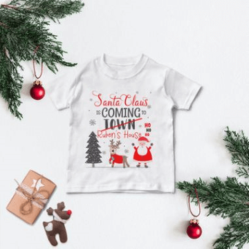 Personalised Santa Claus Christmas T Shirt