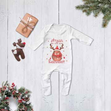 Personalised Red Nose Reindeer Babygrow