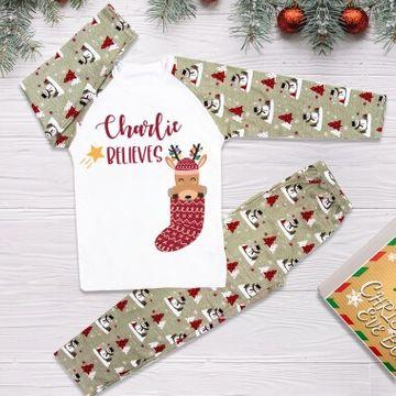 Personalised Name Believes Christmas Pyjamas