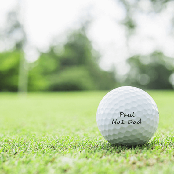 Personalised Srixon Distance Golf Balls - Set of 3