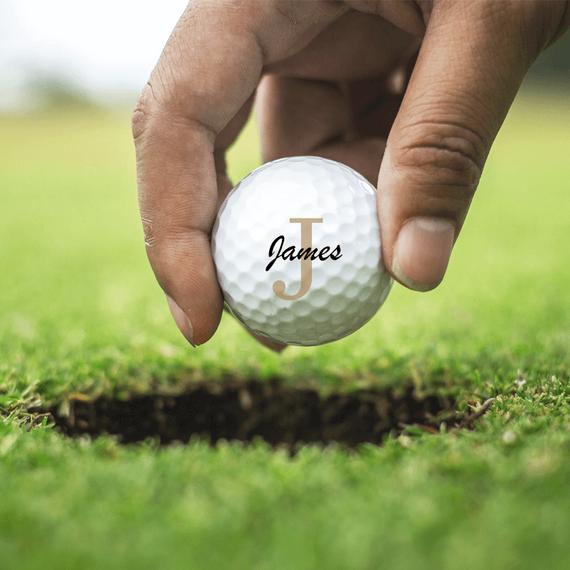 Personalised Titleist TruFeel Golf Balls - Set of 3