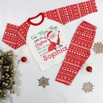 Personalised One More Sleep Christmas Pyjamas