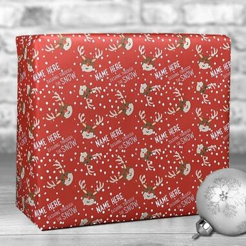 Personalised Dashing Through The Snow Gift Wrap