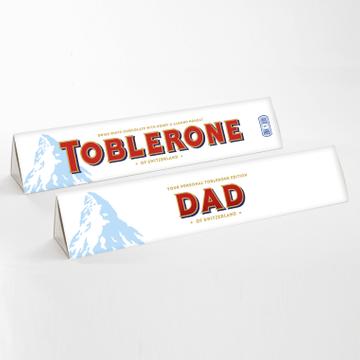 Personalised White Chocolate Toblerone Bar