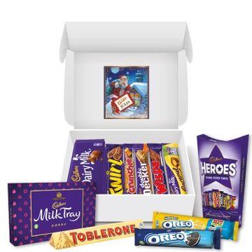 Personalised Cadbury Christmas Chocolate Hamper