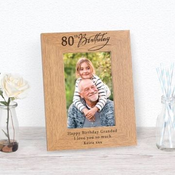Personalised 80th Birthday Photo Frame