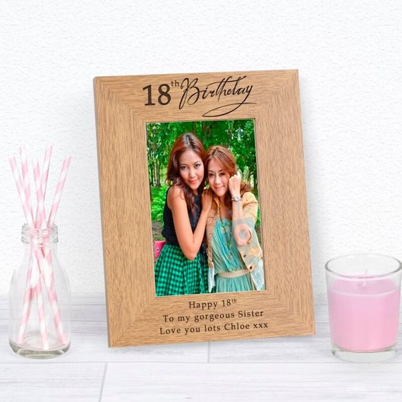 Personalised 18th Birthday Photo Frame