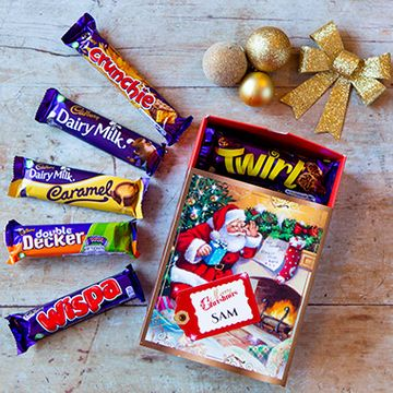 Personalised Christmas Cadburys Favorites Box