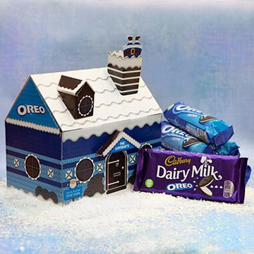 Personalised Oreo Christmas Cottage