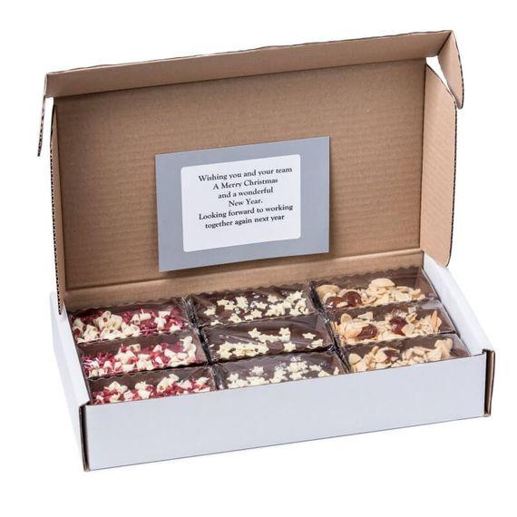 Personalised Christmas Brownie Box