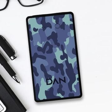Personalised 8000mah Powerbank - Blue Camo