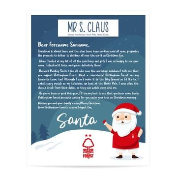 Personalised Nottingham Forest FC Letter from Santa