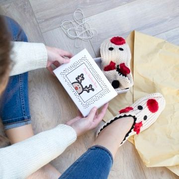 Personalised Reindeer Slipper Gift Box