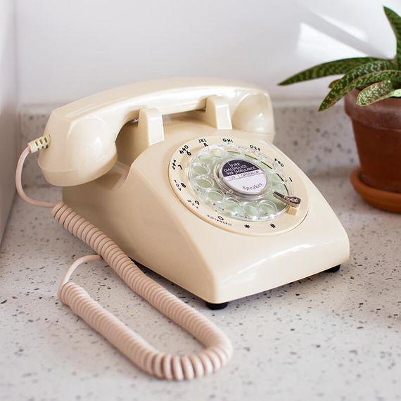 1970's Style Telephone - Cream