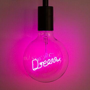 LED Filament Text Bulb -Dream