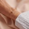 Personalised 9ct Gold Petite Initial Bracelet