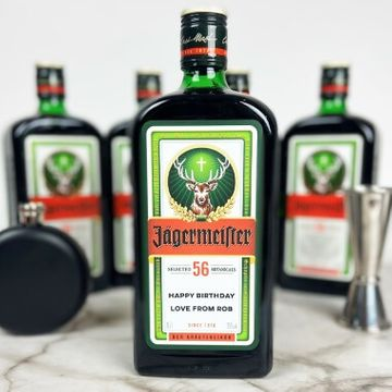 Personalised Jagermeister Bottle - 70cl