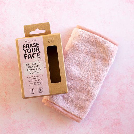 Erase Your Face - Pastel Pink Reusable Makeup Removing Cloth - Single