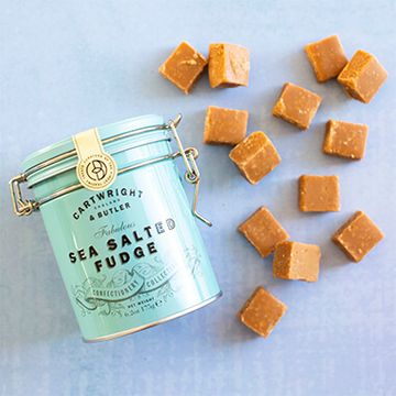 Cartwright And Butler Sea Salted Fudge In Tin