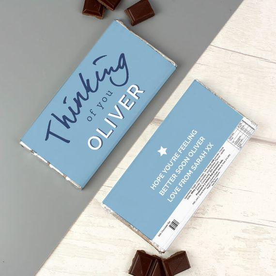 Personalised Thinking Of You Chocolate Bar