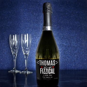 Personalised Let's Get Fizzical Bottle Of Prosecco