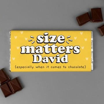 Personalised Size Matters Chocolate Bar