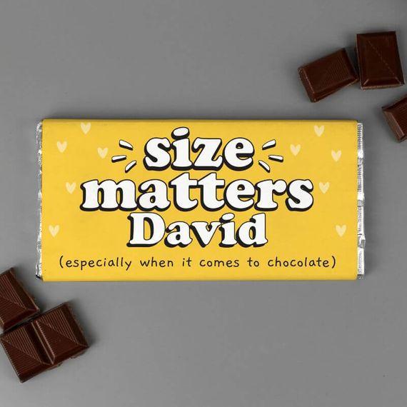 Personalised Size Matters Chocolate Bar