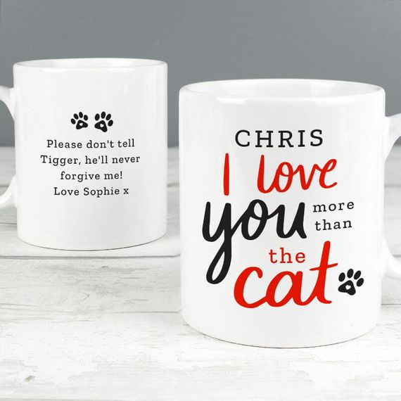 Personalised I Love You More Than the Cat Mug