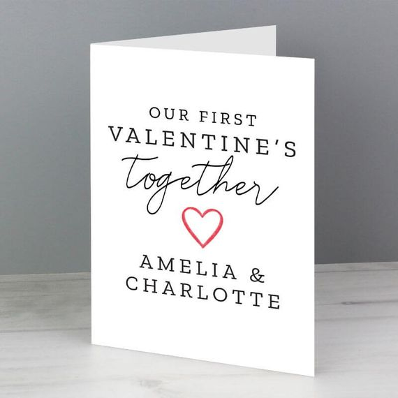 Personalised Our First Valentine's Day Card