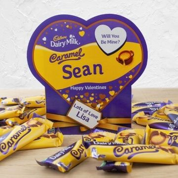 Personalised Valentines Favorites Box - Dairy Milk Caramel