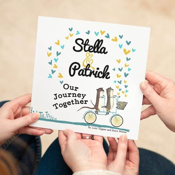Personalised 'Our Journey Together' Book For Couples