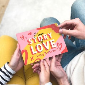 Personalised 'Our Story of Love' Mini Book