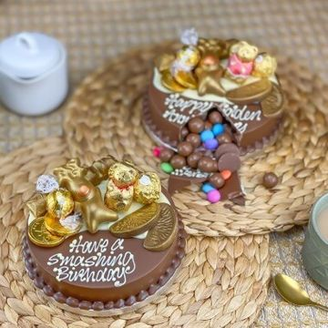 Personalised Mini Gold Smash Cake