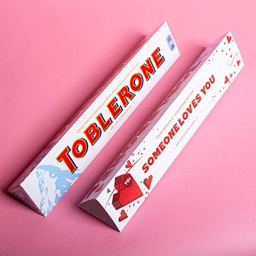 Personalised Heart White Toblerone Bar