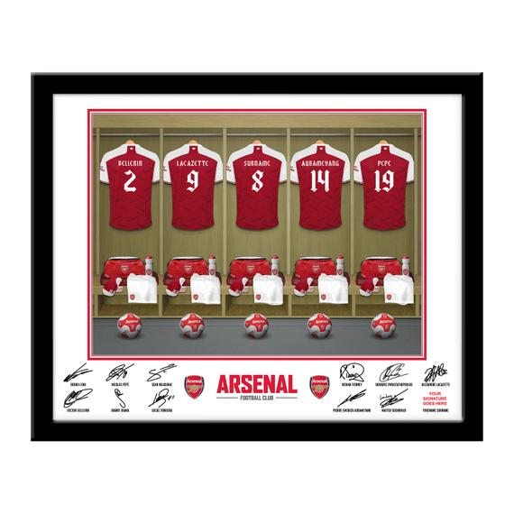 Personalised Arsenal Dressing Room Framed Print