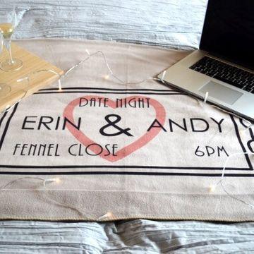 Personalised Date Night Blanket
