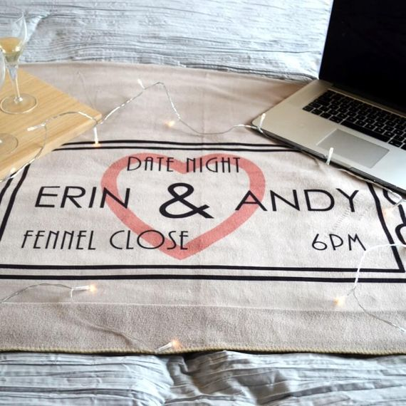 Personalised Date Night Blanket