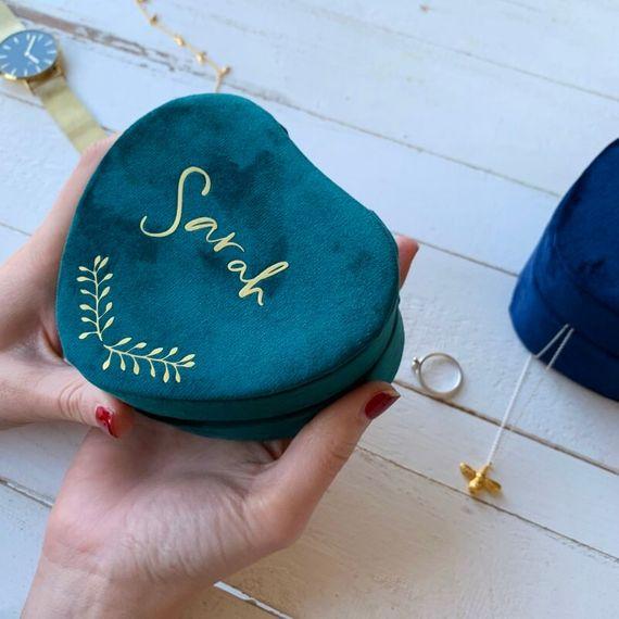 Personalised Mini Heart Keepsake Box