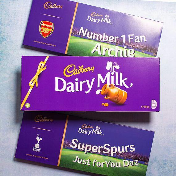 Personalised Football Cadbury Dairy Milk - 850g