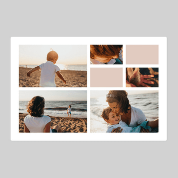 Personalised Photo Tiled Blanket