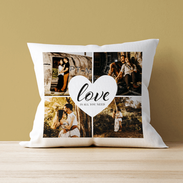 Personalised Love Is All You Need Photo Cushion