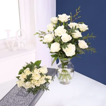 Pure White Letterbox Roses