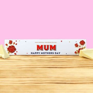 Personalised White Mother's Day Toblerone
