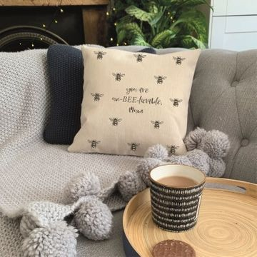 Personalised Un-BEE-lievable Cushion