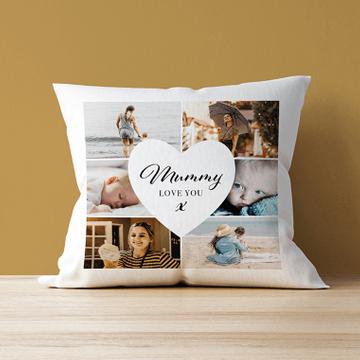 Personalised 6 Photo Mum Cushion