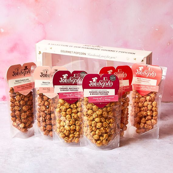 Love Heart Popcorn Pouch Selection Box